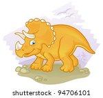 cartoon triceratops | Shutterstock .eps vector #94706101