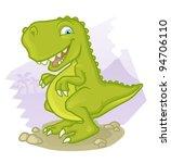 cartoon tyrannosaurus res | Shutterstock .eps vector #94706110