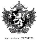heraldic lion wing crest | Shutterstock .eps vector #94708090
