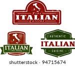 vintage style italian food... | Shutterstock .eps vector #94715674