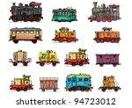 Rail Transport   Set   Cartoon