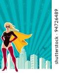 super heroine city  super... | Shutterstock .eps vector #94726489