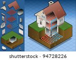 isometric house geothermal...   Shutterstock .eps vector #94728226