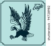 eagle tattoo | Shutterstock .eps vector #94728982