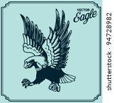 eagle tattoo   Shutterstock .eps vector #94728982