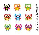 cute owl doodle | Shutterstock .eps vector #94730167