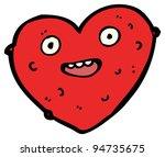 happy ugly heart cartoon | Shutterstock . vector #94735675