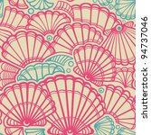 vector seashell seamless pattern | Shutterstock .eps vector #94737046