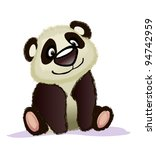lovely panda on a white... | Shutterstock .eps vector #94742959