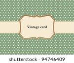 polka dot design  vintage frame.... | Shutterstock .eps vector #94746409