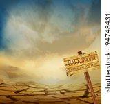vector desert landscape with a... | Shutterstock .eps vector #94748431