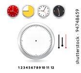blank clock | Shutterstock .eps vector #94748659