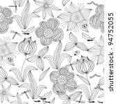 Doodle Seamless Floral...