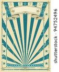 Retro Blue Poster. A Vintage...