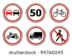 road signs set 6 | Shutterstock .eps vector #94760245
