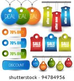web elements set | Shutterstock .eps vector #94784956
