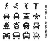 Transportation Icons Set Eegan...
