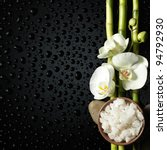 bowl of salt and orchid  bamboo ... | Shutterstock . vector #94792930