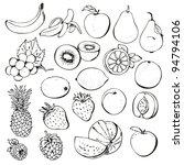 fruit berry set | Shutterstock .eps vector #94794106