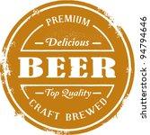 vintage style beer stamp | Shutterstock .eps vector #94794646