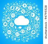 social media  communication in... | Shutterstock .eps vector #94795528
