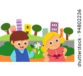 quarrel of couple | Shutterstock . vector #94802236