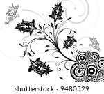 flower background with... | Shutterstock .eps vector #9480529