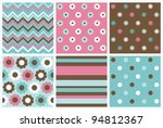 set of cute pattern. vector... | Shutterstock .eps vector #94812367