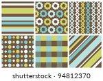 Set Of Cute Pattern. Vector...