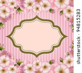 romantic invitation card with...   Shutterstock .eps vector #94815283