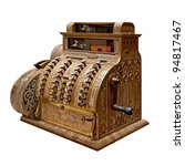 old time cash register in a... | Shutterstock . vector #94817467