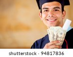 male graduated holding money  ... | Shutterstock . vector #94817836