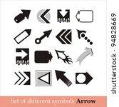 vector arrows   Shutterstock .eps vector #94828669