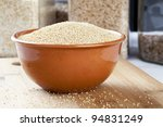 Healthy amaranth grain, a staple food of the Aztecs and becoming popular as a health food. - stock photo