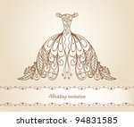 wedding dress   Shutterstock .eps vector #94831585