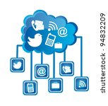 network cloud with technology... | Shutterstock .eps vector #94832209