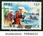 peru   circa 1995  a stamp... | Shutterstock . vector #94836013