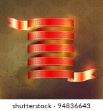 red ribbon with space for text | Shutterstock .eps vector #94836643