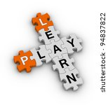 learn and play - stock photo