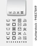 washing symbols | Shutterstock .eps vector #94837849