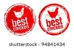 best chicken vector stamps. | Shutterstock .eps vector #94841434