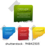 colorful sticky notes | Shutterstock .eps vector #94842505