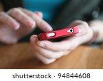hands holding smartphone | Shutterstock . vector #94844608