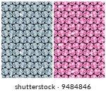 diamond seamless pattern / vector / 2 color variants - stock vector