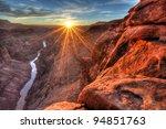 toroweap  sunset  grand canyon... | Shutterstock . vector #94851763
