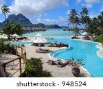 tropical resort swimming pool...   Shutterstock . vector #948524