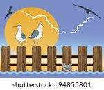 Gulls On Pier