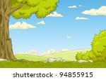 landscape with tree and shrub ... | Shutterstock .eps vector #94855915