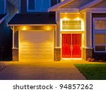 Entrance Of A House At Dusk In...