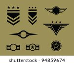 set of military badge  symbols